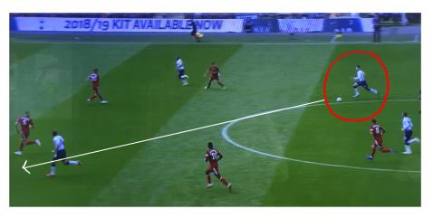 Tottenham's third goal against Fulham